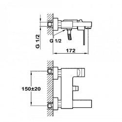 Смеситель для ванны Teka CUADRO 38.121.02