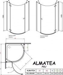 Кабина Radaway Almatea PDJ 90х90