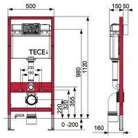 Инсталляция для унитаза Tece Base kit