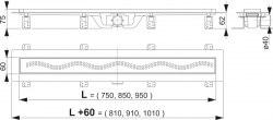 Трап AlcaPlast Simple APZ8 550, 750, 850, 950