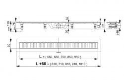 Трап для душа AlcaPlast Simple APZ10 850, 950