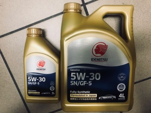 Моторное масло АКЦИОННЫЙ КОМПЛЕКТ 4+1 IDEMITSU 5W-30 SN/GF-5 4L+1L 5w30