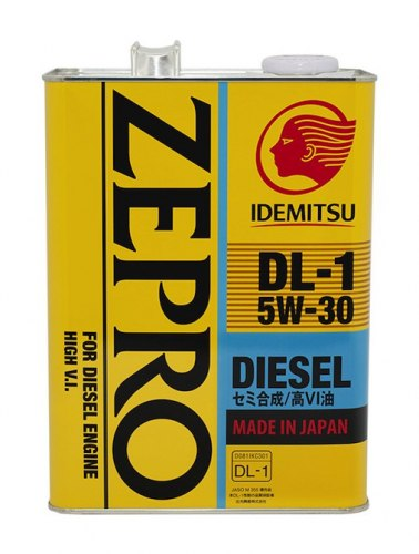 Моторное Масло IDEMITSU DIESEL 4l 5w30 DL1