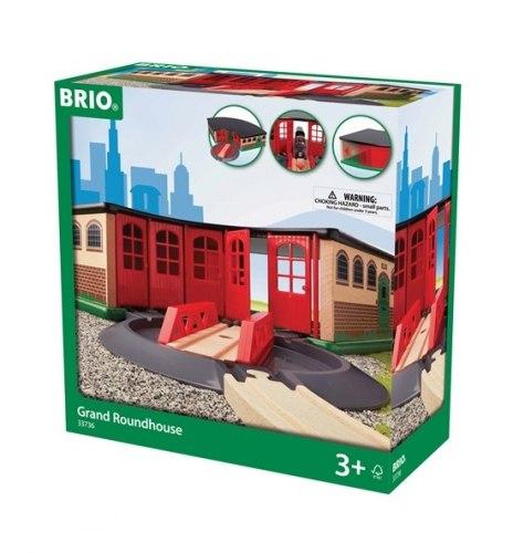 Большое ж/д депо BRIO(Брио) 33736