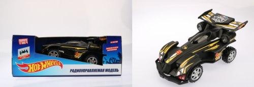 Hot Wheels багги на р/у, cо светом, скорость до 17км/ч, чёрная 1Toy Т10983