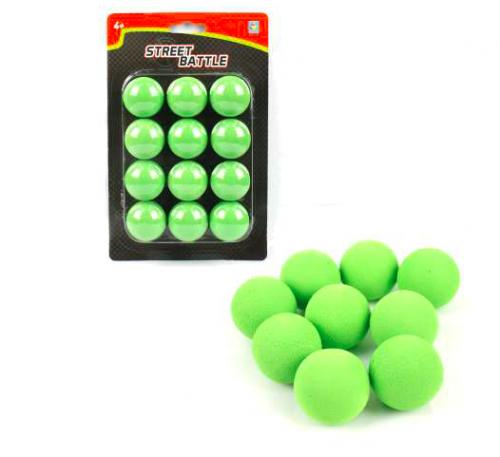 Street Battle Мягкие шарики 3,4 см для игр оружия 12шт 1TOY Т13650