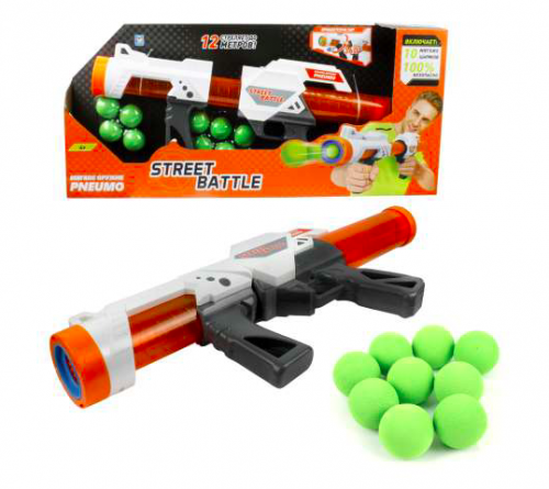 1toy Street Battle игр оружие с мягкими шариками (в компл. 10 шар. 3,4 см), короб. Т13653