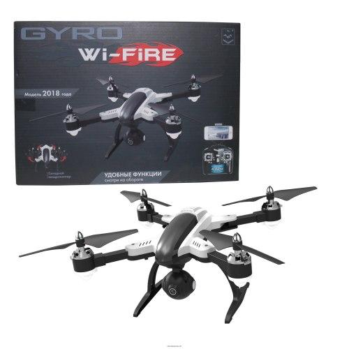 GYRO-WI-FIRE складной квадрокоптер 2,4GHz с Wi-Fi камерой 480p, Headless Mode режим, переворот 360° Т10807