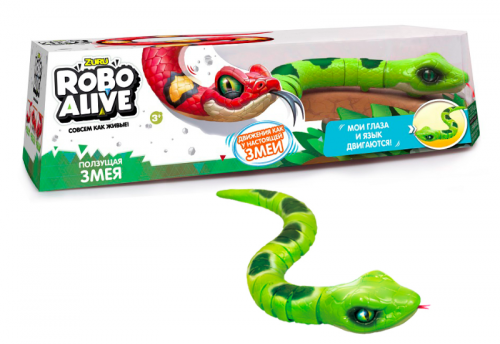Игрушка интерактивная Zuru RoboAlive Робо змея цвет зеленый Т10995