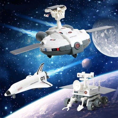 Набор из серии Экспериментариум - Лунный флот 3 в 1 на солнечной батарее 1Toy Т17497