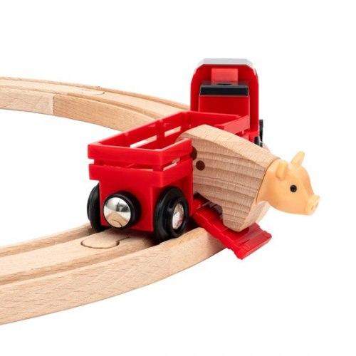 Деревянная железная дорога Сельское поселение с поездом на батарейках BRIO 33984