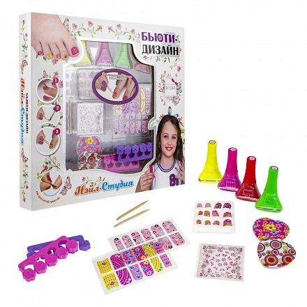 Набор для дизайна ногтей Нэйл-Студия с лаками для ногтей Lukky Т16789