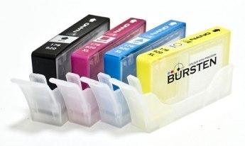 Нано-картриджи BURSTEN I CH4 для принтеров HP с картриджами 178/920 x4, с наполнителем производства