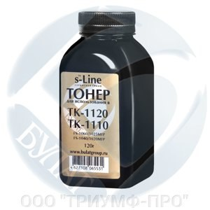 Тонер Kyocera FS-1060/1040 банка 120г TK-1120/1110 БУЛАТ s-Line