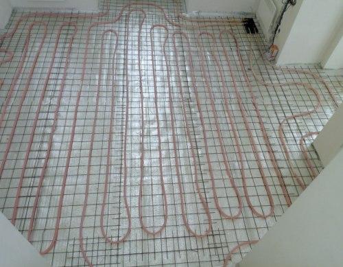 Теплый пол daewoo-enertec в доме 100 м2