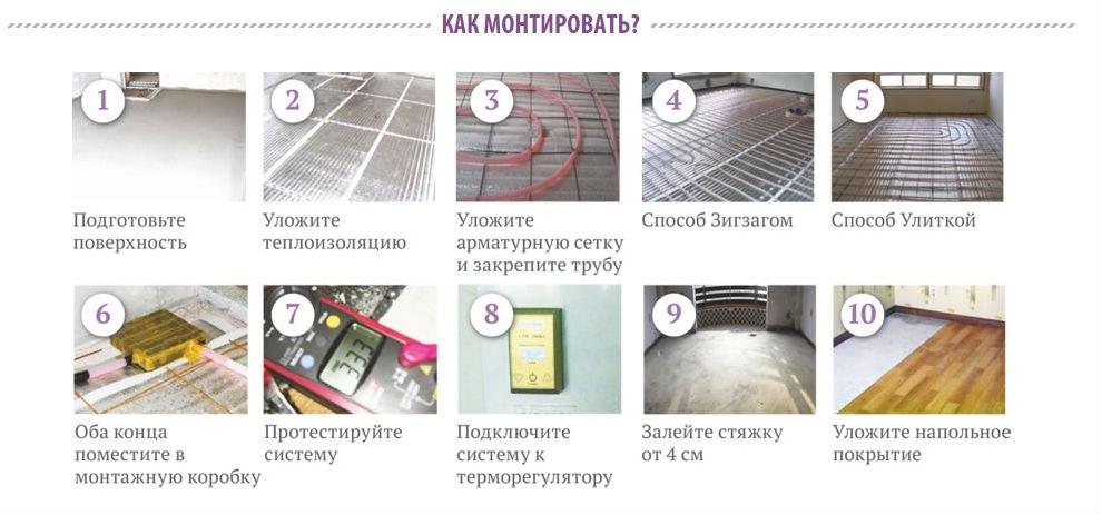 Инструкция по водяным теплым полам