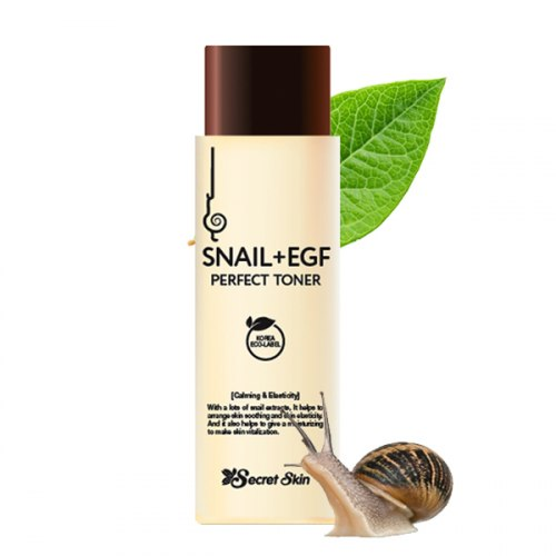 Тонер для лица с экстрактом улитки SECRET SKIN SNAIL+EGF PERFECT TONER 150мл