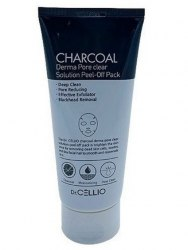Маска отшелушивающая с древесным углем Dr. Cellio Charcoal Derma Pore Clear Solution Peel Off Pack, 180 мл