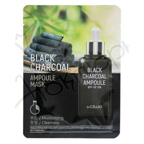 Маска ампульная с углем Dr. Cellio Black Chacoal Ampoule Mask 25мл