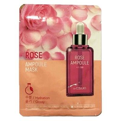 Ампульная маска с розовой водой Dr. Cellio Rose Ampoule Mask 25мл