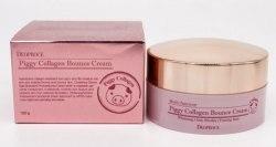 Крем для лица мультифункциональный с гидролизированным свиным коллагеном DEOPROCE Piggy Collagen Bounce Cream, 100 мл