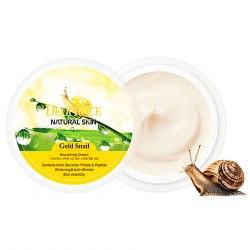 Питательный крем с золотом и муцином улитки DEOPROCE Natural Skin Gold Snail Nourishing Cream 100мл