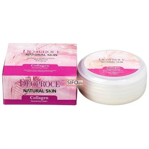 Крем для лица и тела с морским коллагеном DEOPROCE Natural Skin Collagen Nourishing Cream 100 мл