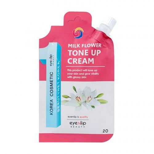 Крем для лица осветляющий для выравнивая тона EYENLIP Milk Flower Tone Up Cream 20 г
