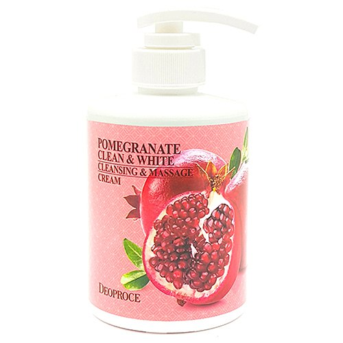 Очищающий массажный крем с экстрактом граната DEOPROCE Clean & White Cleansing & Massage Cream Pomegranate 430g