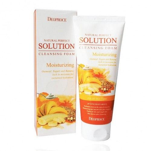Пенки для умывания DEOPROCE Natural Perfect Solution Cleansing Foam 170 гр