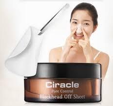 Салфетки для удаления черных точек CIRACLE PORE CONTROL Blackhead Off Sheet 30шт (40ml)