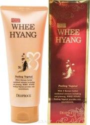 Антивозрастной пилинг для лица с экстрактом женьшеня DEOPROCE Whee Hyang anti-wrinkle Peeling vegetal 170 гр