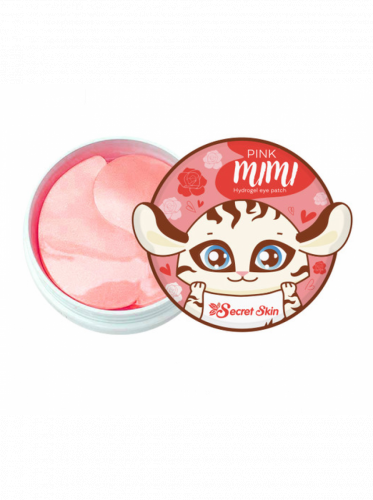 Патчи для глаз гидрогелевые с экстрактом дамасской розы, 60 штук SECRET SKIN Pink Mimi Hydrogel Eye Patch