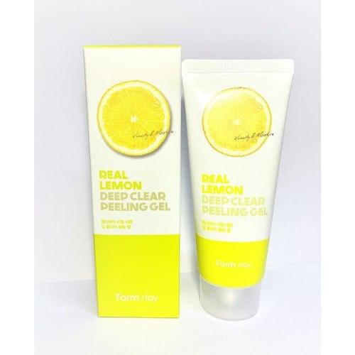 Пилинг скатка FARM STAY Real Lemon Deep Clear Peeling Gel 100мл