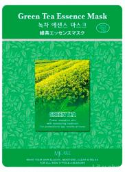 Успокаивающая Тканевая маска для лица с экстрактом зеленого чая MIJIN MJ Care Green Tea Mask (1шт х 23 гр)