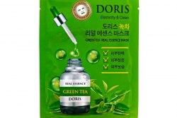 Тканевая маска с экстрактом с экстратом зеленого чая JIGOTT [DORIS] Green Tea Real Essence Mask,1шт*25 мл