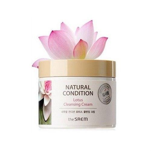 Крем для очищения кожи и снятия макияжа THE SAEM Natural Condition Lotus Cleansing Cream 300 мл