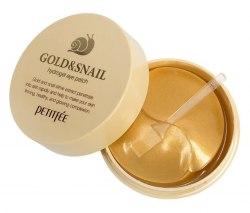 Гидрогелевые патчи для глаз ЗОЛОТО/УЛИТКА PETITFEE Gold/Snail Hydrogel Eye Patch, 60 шт