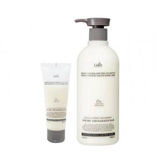 Увлажняющий шампунь для волос без силиконов LA'DOR Moisture Balancing Shampoo 530 ml/100мл