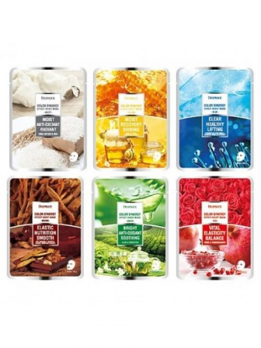 Серия тканевых масок для лица DEOPROCE Color Synergy Effect Sheet Mask 20g в ассортименте
