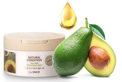 Крем для очищения кожи и снятия макияжа THE SAEM Natural Condition Avocado Cleansing Cream 300 мл