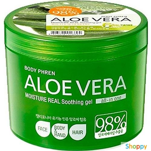 Гель успокаивающий с экстрактом алоэ WELCOS Aloe Vera Moisture Real Soothing Gel 150 мл / 500мл