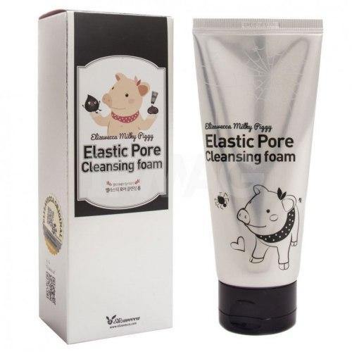 Пенка-маска для очищения и сужения пор черная ELIZAVECCA Milky Piggy Elastic Pore Cleansing Foam 120мл