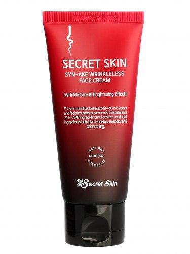 Крем для лица омолаживающий со змеиным ядом SECRET SKIN Syn-ake Wrinkleless Face Cream (50г)