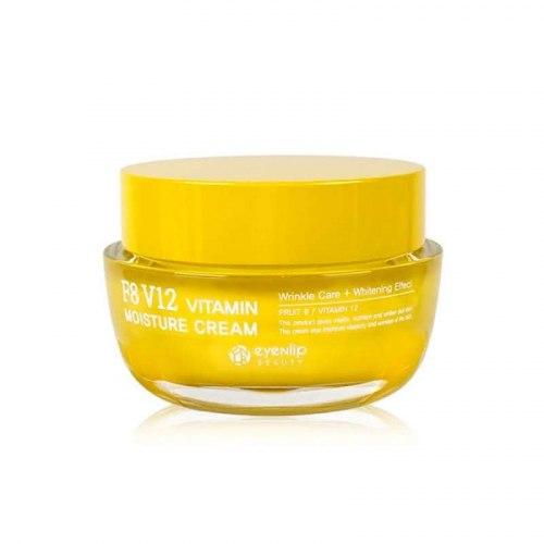 Крем для лица увлажняющий витаминный EYENLIP F8 V12 VITAMIN MOISTURE CREAM 50мл