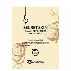 Маска для лица тканевая с экстрактом улитки SECRET SKIN Snail + Egf Perfect Mask Sheet 20 мл