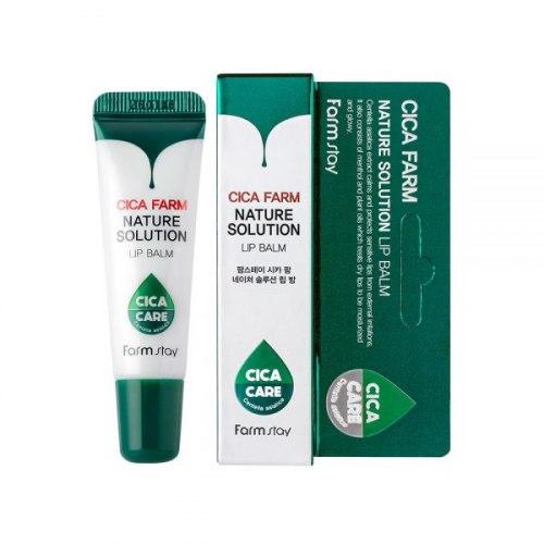Восстанавливающий бальзам для сухих и поврежденных губ FARM STAY Cica Farm Nature Solution Lip Balm 10g