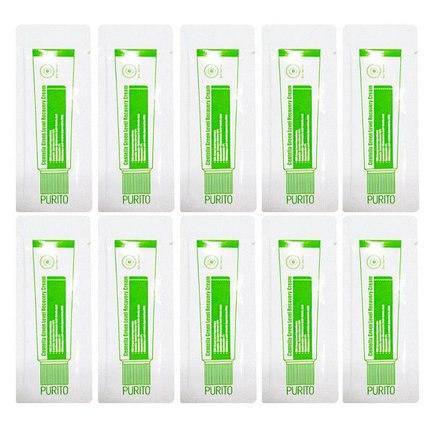 Успокаивающий и восстанавливающий крем для лица с центеллой PURITO Centella Green Level Recovery Cream пробники (1*10шт)