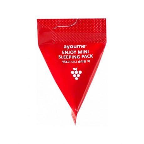 Антивозрастная ночная маска для лица в пирамидках AYOUME Enjoy Mini Sleeping Pack 3г*1шт