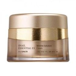 Крем с экстрактом муцина улитки антивозрастной THE SAEM Snail Essential EX Wrinkle Solution Cream 60 мл